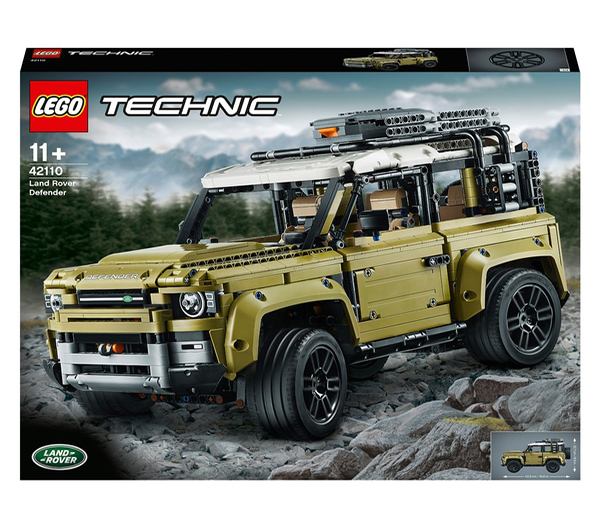 1st prize LEGO Technic Land Rover Defender  2nd prize Technic Jeep Wrangler