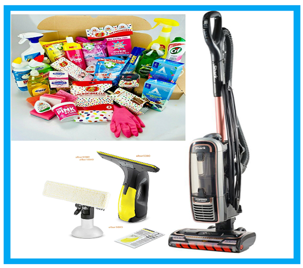 SHARK DuoClean hoover/KARCHER  Window cleaner plus a Ultimate cleaning box bundle