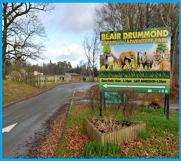 2x adults 2x children full entry in Blair Drummond Safari and Adventure Park