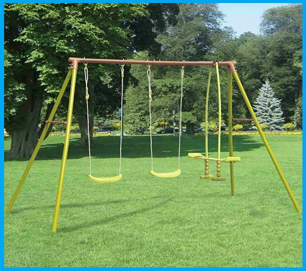2 Swings and Glider Children's Playground Activity Set Aged 3 to 12 years