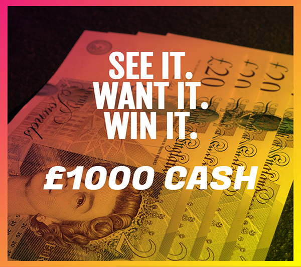 win £1000 in your bank + Runner up prize