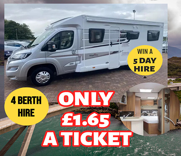 win a 5 day hire of a 4 berth motorhome
