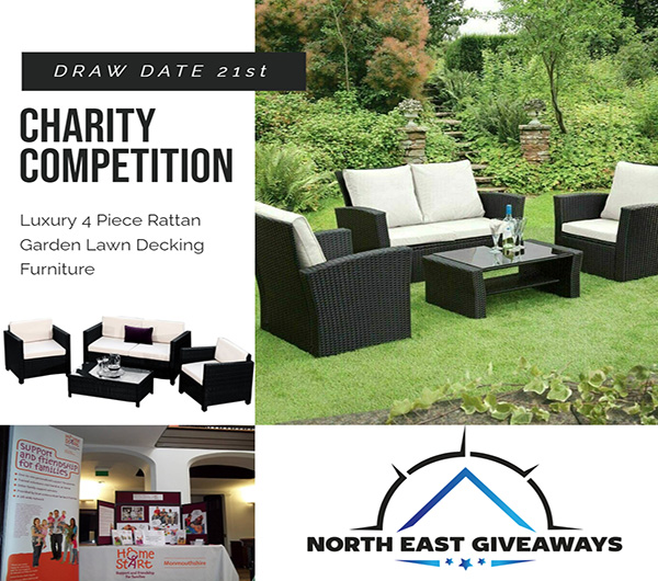 ONE LAST SET FOR THE YEAR Rattan Garden Furniture Set 4 Seater Armchairs and Table. charity