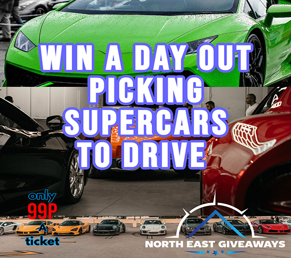win a day out driving 4 different supercars