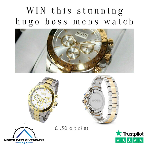 HUGO BOSS  IKON TWO TONE GOLD AND SILVER MENS WATCH