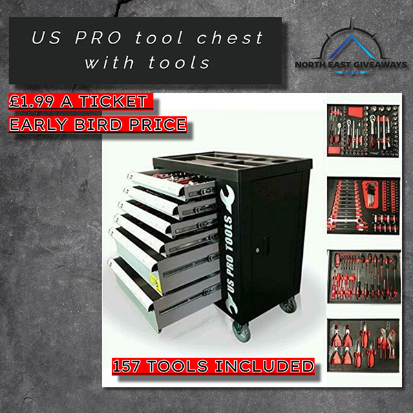 US PRO TOOL CHEST WITH TOOLS 154 PC